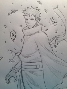 Uchiha Itachi Ready To Fight Naruto Coloring Pages