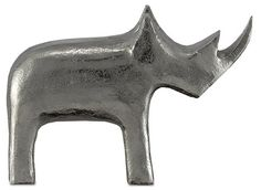 Select a winner for modern living space decor with this boldly styled silver metal rhino figurine. 10 wide x 3 deep x 7 high. Kano metal rhino figurine from Currey and Company. Style # at Lamps Plus. Modern Sculpture, Abstract Sculpture, Sculpture Art, Sculptures, Moe's Home Collection, Bird Statues, Contemporary Decor, Matte Black, Accent Decor