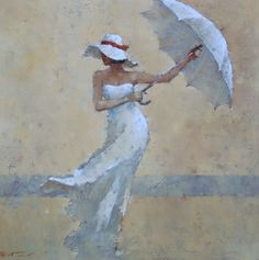 André Kohn is a Russian-born painter whose style is described as figurative impressionist. For biographical notes -in english and italian- by Kohn see: Andre Kohn, 1972 Figure Painting, Painting & Drawing, Umbrella Art, Drawing Umbrella, Art Drawings Sketches, People Art, Portrait Art, Figurative Art, Watercolor Paintings