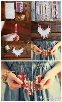 Collar etnic DIY