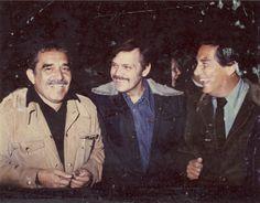 Gabriel García Márquez, José Luis Cuevas, Octavio Paz.-1977