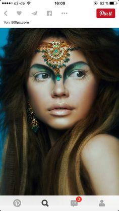 Fantasy Eyes Make-up Makeup Inspo, Makeup Inspiration, Beauty Makeup, Eye Makeup, Makeup Ideas, Exotic Makeup, Witch Makeup, Makeup Geek, Maquillage Halloween