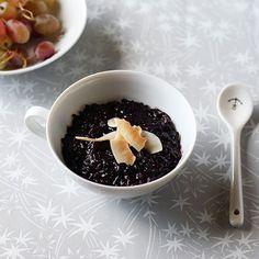 coconut black rice pudding
