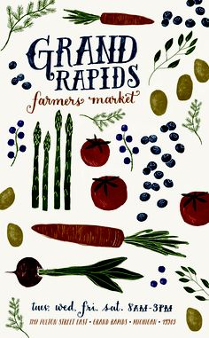 Farmers Market | Molly Jacques LOVE THIS ILLUSTRATION - perfect blend of farm and feminine!