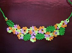 Ravelry: Forest Candy by Fatima...free pattern to make this gorgeous flowered necklace!!!
