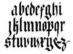 Resultado de imagen para calligraphy alphabets