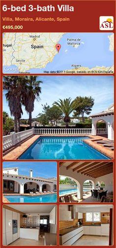 6-bed 3-bath Villa in Villa, Moraira, Alicante, Spain ►€495,000 #PropertyForSaleInSpain
