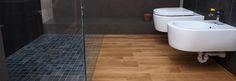 Il parquet nel bagno si può usare! www.casapiubella.com