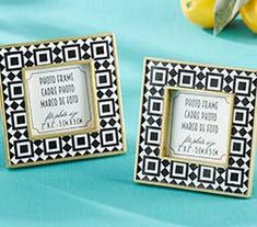 Tropical Chic Tile Patterned Frame-For favors, welcome bags, wedding party gifts, or even a special memento for yourself, our Kate Aspen Tropical Chic Tile Patterned Frame is the epitome of sophisticated and fun! The black and white triangle tile-lik Budget Wedding Favours, Wedding Costs, Wedding Party Favors, Wedding Tips, Gold Wedding, Wedding Planning, Black And White Frames, Black And White Tiles, Black White