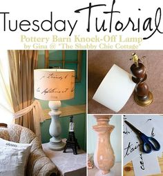 knock-off pottery barn lamp  - how to