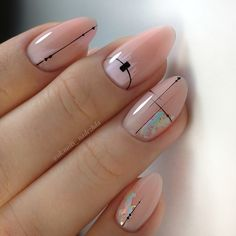 Best Nail Art Designs - 36 Best Nail Art Designs 2019 - The most beautiful nail designs Stylish Nails, Trendy Nails, Funky Nails, Best Nail Art Designs, Manicure E Pedicure, Gold Manicure, Gold Nails, Minimalist Nails, Nude Nails