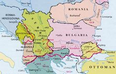Territorial changes in the Balkans due to the 2nd Balkans War (April-July 1913)