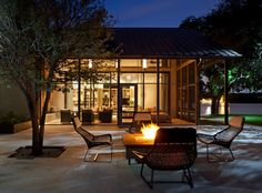 TREE IN CUTOUT, FIREPIT Decorating Screened Porch Design Ideas, Pictures, Remodel, and Decor - page 284