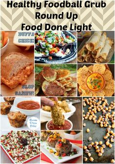 Whether you want a meal or snacks for the football game, this recipe round up has a healthier version. It's football season which can mean a lot of unhealthy junk food. Savory Snacks, Yummy Snacks, Healthy Snacks, Yummy Food, Healthy Recipes, Healthy Tips, Grub Recipes, Appetizer Recipes, Cooking Recipes