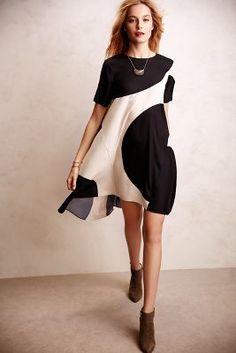 Modernity Silk Swing Dress #Anthropologie