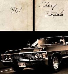 play: My Dream car is a 1967 Chevy black Impala four door leather interior bench seats. Or any other muscle car for that matters around that time period. Supernatural Series, Supernatural Impala, Supernatural Wallpaper, Supernatural Fandom, Supernatural Bunker, Supernatural Pictures, Chevrolet Impala 1967, Impala 67, My Dream Car