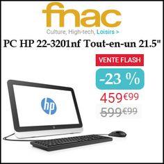 """#missbonreduction; Vente Flash : économisez 23 % sur le PC HP 22-3201nf Tout-en-un 21.5"""" chez FNAC.http://www.miss-bon-reduction.fr//details-bon-reduction-FNAC-i329-c1832518.html"""