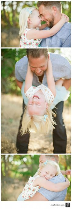 Adorable daddy-daughter photos - take same/similar photos every year on Father's Day Family Picture Poses, Fall Family Pictures, Family Photo Sessions, Family Posing, Family Portraits, Family Pics, Family Photo Shoot Ideas, Young Family Photos, Father Daughter Photography