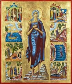 Orthodox Christian Education: St Mary Egypt Craft - Turn Life Around Santa Maria, Byzantine Icons, Byzantine Art, St Mary Of Egypt, Egypt Crafts, Holy Mary, Religious Images, Orthodox Christianity, Orthodox Icons