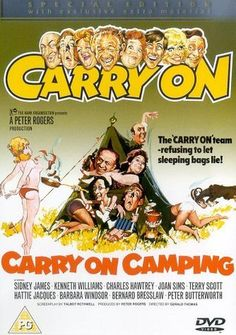 Carry on Camping Poster Sydney James, Kenneth Williams, Barbara Windsor, Fools And Horses, Finishing School, Camping Holiday, Dvd Blu Ray, Cheer Up