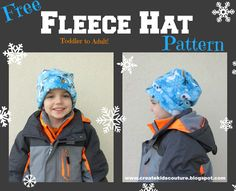 Fleece Hat Pattern Free! Quick and Easy Toddler to Adult