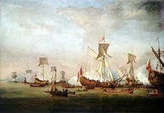 La partenza di Guglielmo d'Orange e la Principessa Mary per l'Olanda, novembre 1677, Willem van de Velde il Giovane, dopo il 1677