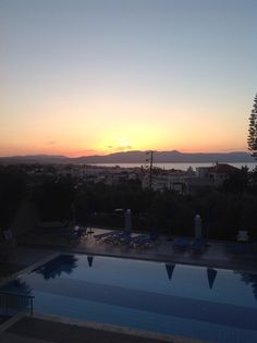 Varouxakis Hotel Patanias Crete Crete, Spaces, Celestial, Sunset, Outdoor, Outdoors, Sunsets, Outdoor Games, The Great Outdoors