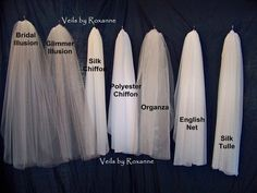 Think about veil fabric.