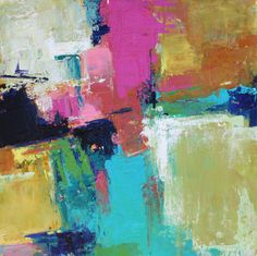 Abstract ORIGINAL Contemporary Painting Moria by MElizabethChapman, $150.00