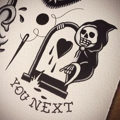 Image result for grim reaper tattoo traditional