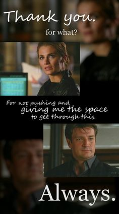 This is one of my absolute favorite Castle scenes of all time. It's really beautiful. This is what love really means.