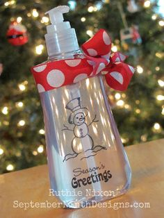 Customized Hand Soap Dispenser  Easily changed for each Holiday