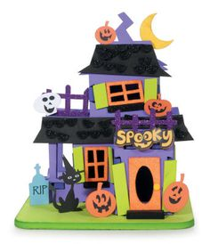halloween mansion 3d foam kit