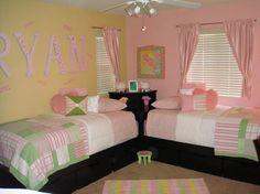 Twin Girls Room - modern - bedroom - los angeles - by Legacy Designs