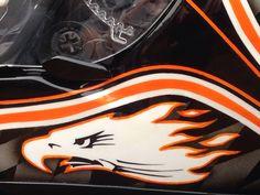 HD Screaming Eagle 120R airbrushed helmet.