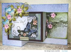 How to craft a fabulous floral card so that your day is WOWED: Z-fold card tutorial by Liz Gaze - Heartfelt Creations