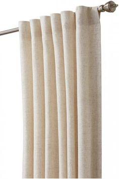 Linen Blend Back Tab Lined Drapery Panel - Back Tab Curtains - Curtain Panel - Drapery Panel | HomeDecorators.com