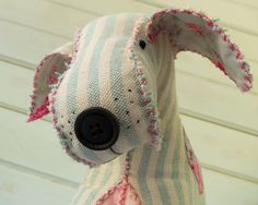 Little Dog Sidney Softie (I love that it's hand stitched!)|