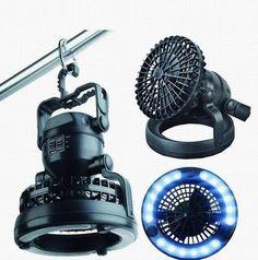 Hanging Led Light Lamp Lantern & Fan Ideal for Parasol Gazebo Shed Tent Garage