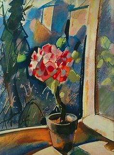 ❀ Blooming Brushwork ❀ - garden and still life flower paintings - Otto Herbig  Still Life  1953