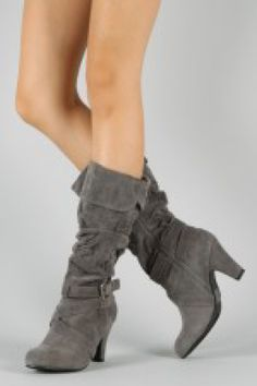 Qupid Praise-10X Suede Slouchy Knee High Boot in Brand Nu You Fashionable Shoes $38.00