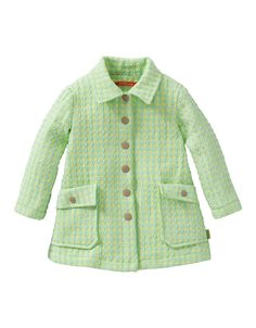 Lovely summer coat in comfortable cotton-polyester with a subtle 3D effect.