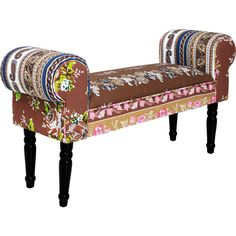 Bench Wing Patchwork Beige - KARE Design