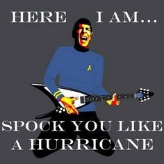 (spock, star trek, funny, humor, scorpions)