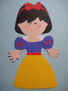 Snow White Paper Doll Cricut DIE CUT Scrapbook Embellishment Paper Piecing | eBay