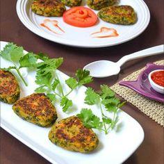 Hara Bhara Kabab / Spinach Peas Potato Patties