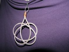 Celtic Knot Upcycled Bass String Pendant made in Parry Sound $35