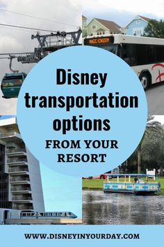One of the major perks that is included with staying at a Disney resort is the free transportation to and from the theme parks. While bus is the most common mode of transportation there's also monorail, boats, and the new Skyliner gondolas. Some resorts are even close enough to the theme parks to walk!If you have a Disney trip coming up with a stay at one of these resorts, you might be wondering about which transportation option to use for each park. Disney World Rides, Disney World Hotels, Walt Disney World Vacations, Disney World Resorts, Disney Travel, Disney World Tips And Tricks, Disney Tips, Disney Magic, Florida Resorts