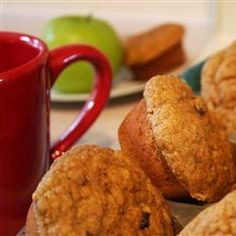 """Addictive Pumpkin Muffins. """"This is my lower fat version of a pumpkin bread recipe using extra pumpkin and no oil. You can also substitute artificial sweetener for half of the sugar, and some whole wheat flour for nutrition, and they still taste great. They freeze very well; just microwave a frozen muffin for 20 to 30 seconds and it's ready."""" – by MIDNITEJASMINE"""