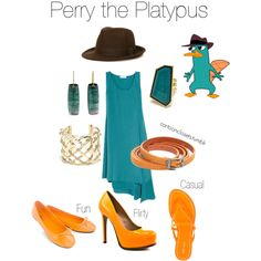"""""""Perry the Platypus"""" by bforbel on Polyvore"""